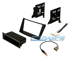 SINGLE/DOUBLE 2 DIN CAR STEREO RADIO DASH INSTALL MOUNTING KIT W/ WIRE HARNESS