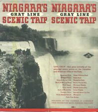 1936 Gray Line Niagara Falls Travel Brochure and Map / Nice Graphics on Map!