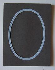 #) cadre passe-partout photo - Oval - Gris - Bleu ciel