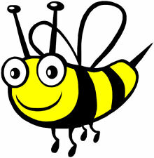 Lightning Signs Happy Bee Insect Bug Children Nursery Car Sticker