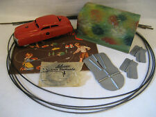 vintage SHUCO Varianto LIMO w/ tin TUNNEL & guide wire 3010 car RED instructions