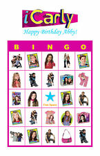 iCarly Birthday Party Game & Activity Bingo Cards