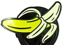 CHEEKY HUMOUR PEELED BANANA POP ART RETRO BELT BUCKLE YELLOW BLACK