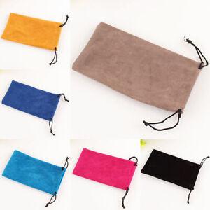 1pc Portable Soft Cloth Glasses Bag Sunglasses Case Dustproof Glass Pouch Bag