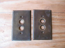 ANTIQUE PUSH BUTTON LIGHT SWITCH COVER OLD HOUSE ELECTRICAL