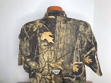 Men's Columbia PFG Fishing S/S Button Front Shirt Size Extra Large (XL) Camo