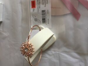 Ted Baker Love Blossom Ultra Fine Cuff Rose Gold tone Crystal with packaging
