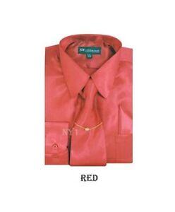 Boy's& Kid's Shiny Satin Dress Shirt With Tie and Handkerchief Set Style KG-05