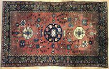 Tremendous Turkish - 1960s Antique Khotan Rug - Oriental Carpet - 4.5 x 7.8 ft.