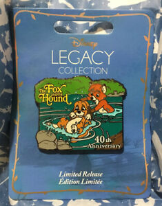 Disney Legacy Collection The Fox and the Hound 40th Anniversary Pin, LR, New