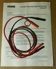 Keithley Model 8607 High Voltage Dual Test Leads Banana Cables
