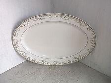 Haviland France Limoges Gold Yellow & Blue Floral Garland Oval Serving Platter