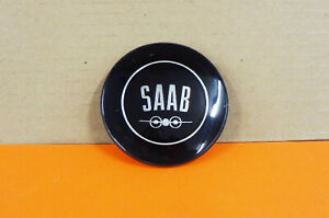 1960-67 SAAB 96 Steering Wheel Horn Ring Button Medallion Center Cap Emblem NICE