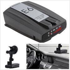 DC12V Negro 360 ° Full Banda E6 Autos Velocidad láser detector de radares coche voz Inglés