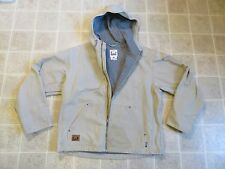 SOREL Hooded JACKET Mens L Canvas Duck Cloth Lined Lining Work Chore Ranch Heavy