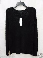 Sanctuary Teddy Bear Raglan-Sleeve Bouclé-Knit Sweater, Black, XS