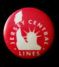 Vintage Jersey Central Lines red button pin. Local 137