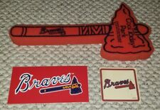 Vintage 1990s Lot of 3 MLB Atlanta Braves Stickers Window Decals Foam Tomahawk