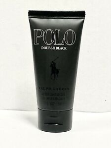 POLO DOUBLE BLACK by RALPH LAUREN Men 1.7oz-50ml A/Shave Gel New *NO-BOX*(ICC2