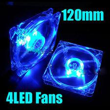 Fan 4 LEDs Azul ventilador 120x120x25mm 4 pin Caja de la Computadora