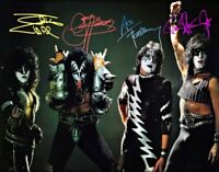Kiss 8x11 Autographed Photo Pre Creatures Of The Night 1982 Photoshoot