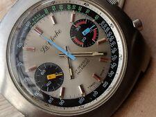 Vintage La Cloche Chronograph w/Exotic Dial,Warm Patina,Divers All SS Case