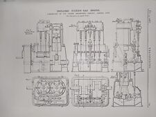 Enclosed Suction Gas Engine Constructed In Bath: 1908 Engineering Magazine Print