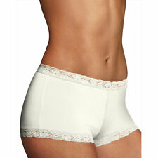 c08da7d519eb Maidenform Microfiber and Lace Boyshort Style 40760 Ivory 7