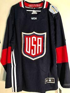 Adidas Premier World Cup Jersey United States Hockey Team USA Navy sz L