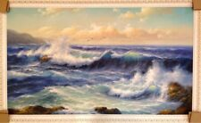 """The mighty ocean""  SPECTACULAR OIL PAINTING! Signed, Ukraine, Kiev"