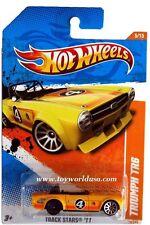 2011 Hot Wheels #70 Track Stars Triumph TR6 ERROR car