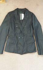 STILE BENETTON donna Faux Leather Jacket. NUOVA con etichetta. Taglia 16. prezzo consigliato £ 109. Nero