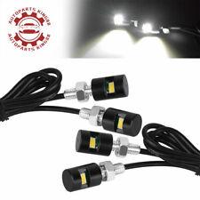 4x White Car License Plate Screw Bolt Light bulbs Lamp&LED SMD Motorcycle 12V