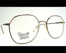 1980's New Old Stock Tortoise Shell & Gold Wire Rim Eyeglass Frame Large 54