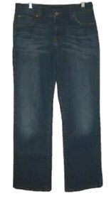 LUCKY BRAND Size 29 JEANS Gene Montesano DUNGAREES Mid-Rise FLARE 31x32 TALL
