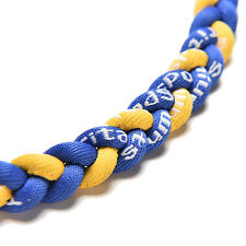 "New listing Titanium Ionic Sports Baseball Necklace 20"" 3-rope Tornado Braid B zx"
