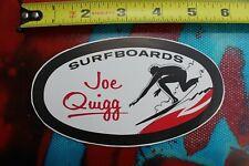 JOE QUIGG Surfboards 1960's Rare Original Vintage Surfboard Laminating DECAL Lam