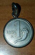 1 Lira 1954  argento 925 a ciondolino rarissima