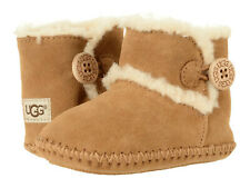 NEW UGG LEMMY II CHESTNUT BOOTIES CRIB TODDLER INFANT AUTHENTIC 1018136I