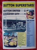 Sutton United 2 Coventry City 1 - 1989 FA Cup - souvenir print