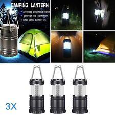 3p x 30 LED Camping Lantern Portable Collapsible Light Outdoor Hiking Work  GA