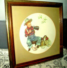 "Norman Rockwell ""Mysterious Malady"" Sealed with Inspectors Stamp & Framed"