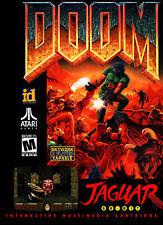 A4 Atari Jaguar système de jeu affiche -- Doom (photo print gaming art Quake couverture)