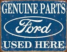 Ford Genuine Used Parts Car Dealer Vintage Retro Weathered Style Metal Tin Sign