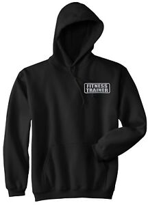 Fitness Trainer hoodie, REFLECTIVE LOGO, Personal Trainer hoodie