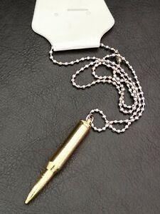 Halskette mit Kugel Patrone Patronenhülse Nachbildung Rapper Kette Schmuck M15