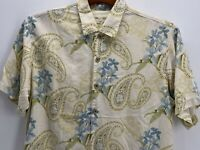 Men's Tommy Bahama 100% Silk Button-up Floral Shirt Size Large