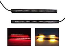 4X Led Red+ Amber Strobe Strip Motorcycle Stop Light Turn Signals Auto Signals