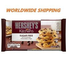 Hershey's Kitchens Sugar Free Chocolate Chips 8 Oz WORLDWIDE SHIPPING