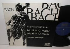 SAGA 5161 JS Bach Suites For Solo Cello Nos. 3 & 6 Janos Starker